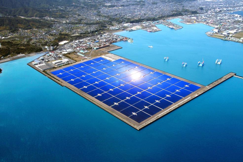 "Japan building a ""mega solar"" power and wind energy plant"
