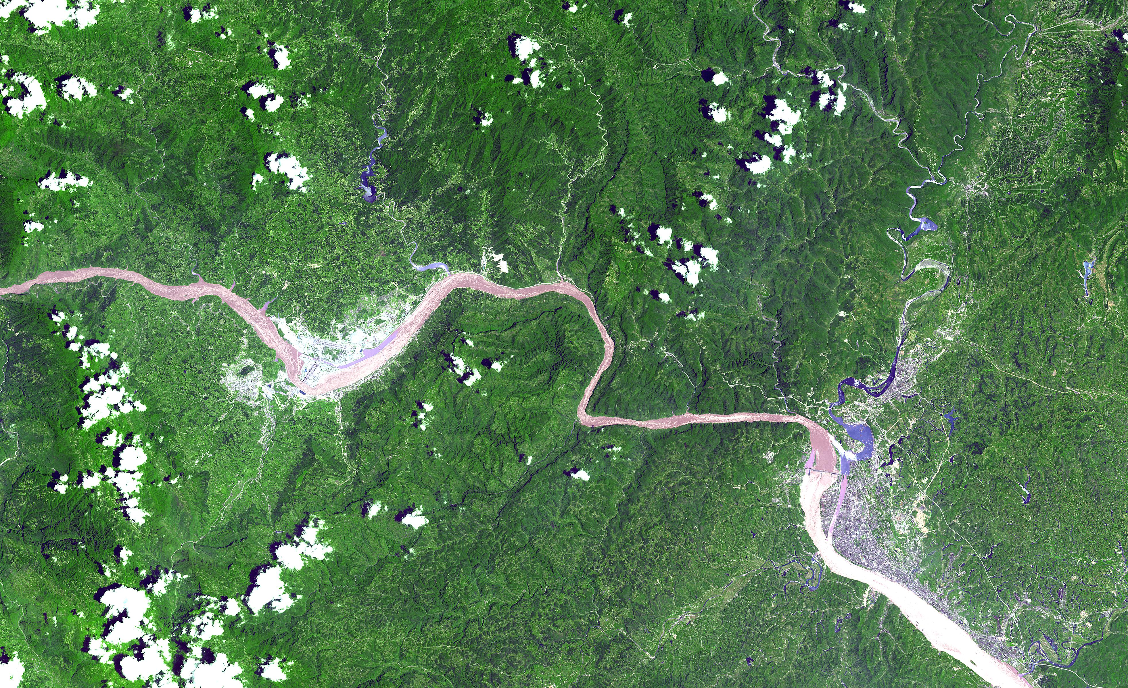 Three gorges dam project china s biggest project since the great wall - Three_gorges_dam_from_space Published January 4 2013 At 3924 2394 In Three Gorges Dam Project China S Biggest Project Since The Great Wall