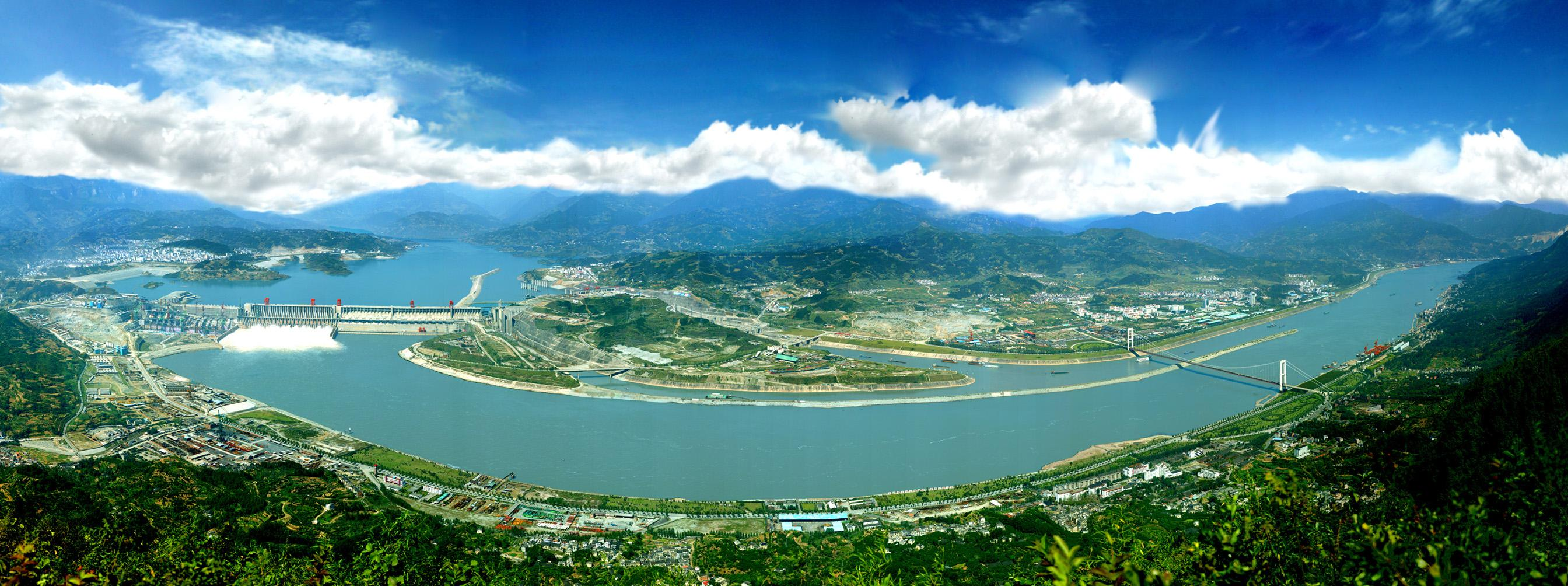 Three gorges dam project china s biggest project since the great wall - Yangtze River China_wide_view Published January 4 2013 At 2688 1004 In Three Gorges Dam Project China S Biggest Project Since The Great Wall
