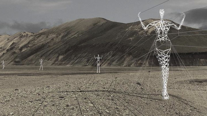 Giants Carrying Iceland's Electricity