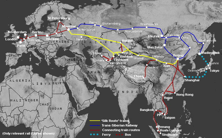 New Silk Road HSR Routes