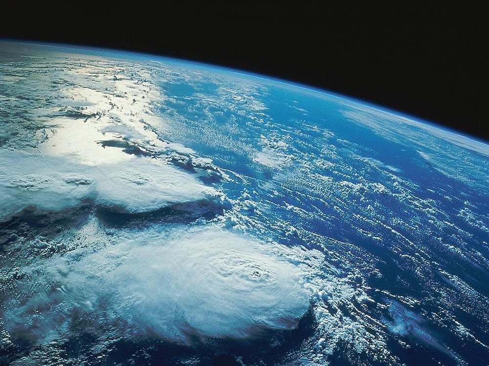 Clouds and Earth from Space