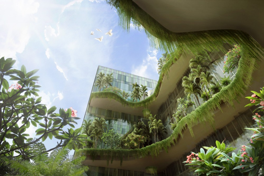 15 000 square meters of sky gardens connecting singapore 39 s for Sky design hotel