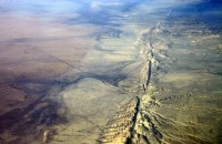 Aerial View of San Andres Fault