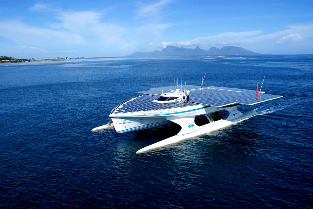 The World's Largest Solar Powered Boat