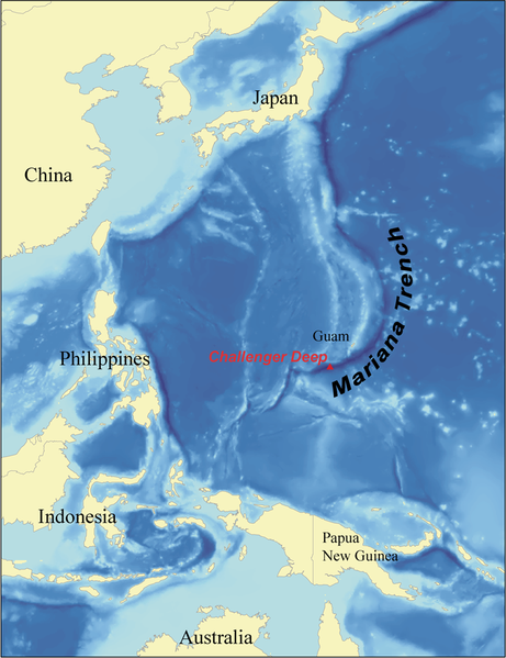 Mariana Trench Map
