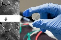 Self-healing battery repairs the cracks of repeated battery use. Image courtesy Stanford