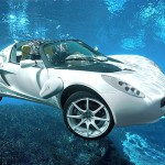 World's First Underwater Car Cruises at 75 MPH on Land and 1.9 MPH Underwater