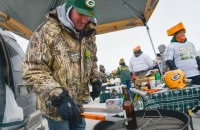 Hot off the grill: beer. Photo © Benny Sieu-USA TODAY Sports