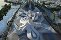 Zaha Hadid Architects won a competition in 2011 to design the Changsha Meixihu International Culture & Arts Centre. Photo © Zaha Hadid Architects