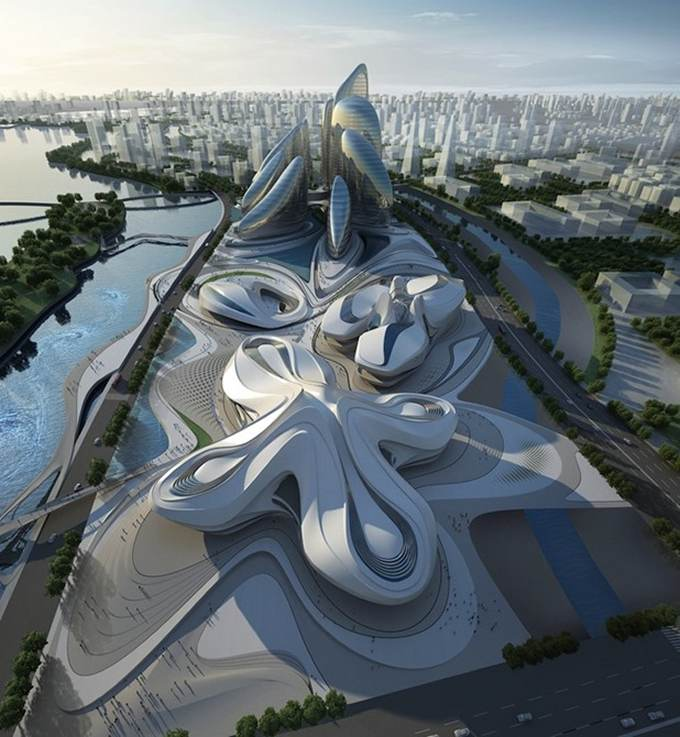 Take an Inspiring Tour of China's House of Modern Arts, the Changsha Meixihu International Culture and Arts Centre