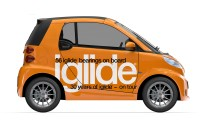 The iglide® car ready for 65,000 mile world tour