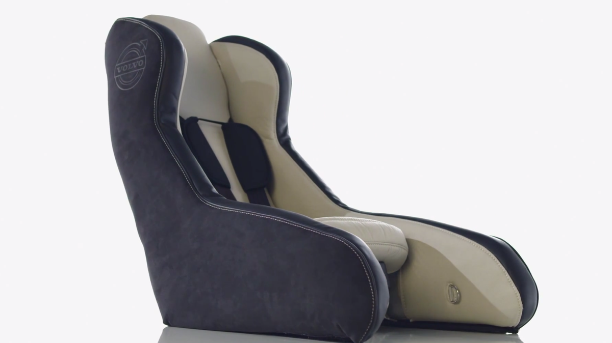 why volvo 39 s inflatable car seat will deflate bulky car seat manufacturers industry tap. Black Bedroom Furniture Sets. Home Design Ideas