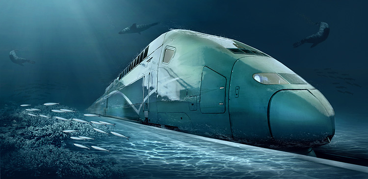 China Plans 8000+ Mile High Speed Underwater Railway to America