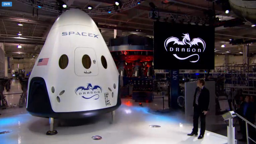 """It's Here! The Brand New Private """"Space Taxi"""" Capsule From Elon Musk & SpaceX!"""