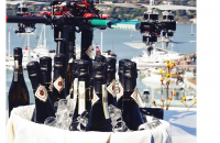 The hotel's octo-copter was custom built to deliver two bottles of champagne to your doorstep. Image courtesy casamadrona / Instagram