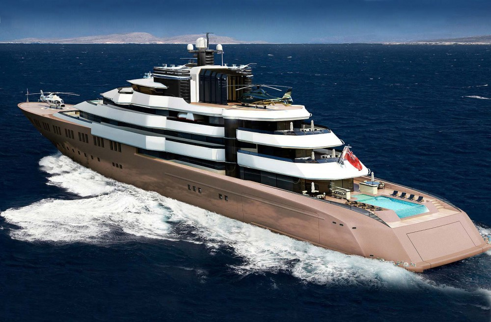Helicopter Landing on Super Yacht