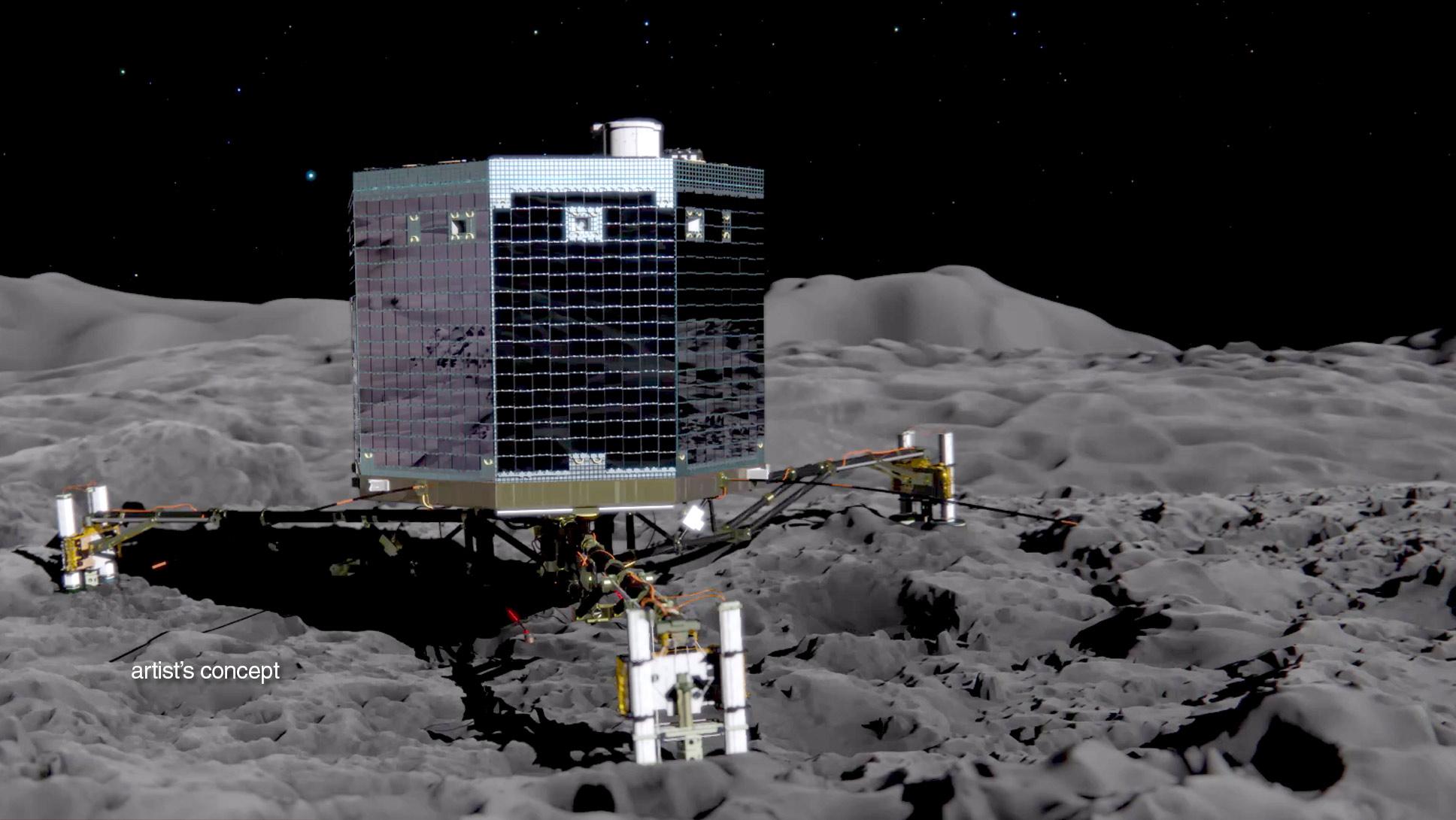 Watch Rosetta Spacecraft's Philae Lander Attempt To Land ...