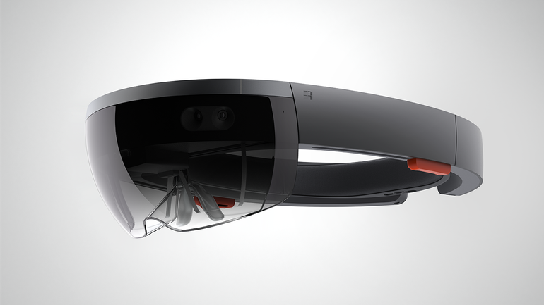 Microsoft HoloLens Headset Creates Interactible 3-D Images