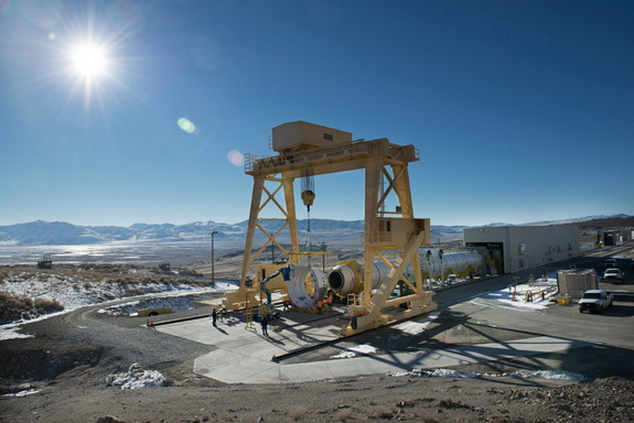 NASA Space Launch System ATK Booster Test Stand Utah