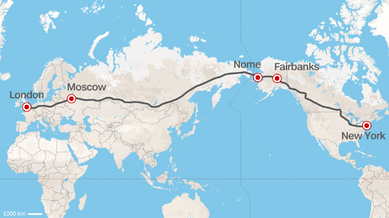 Trans-Eurasian Hyperloop
