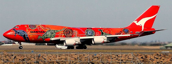 Qantas 747-400 Aboriginal Art