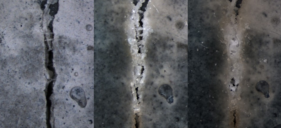 Self-Healing Concrete Can Repair Its Own Cracks with Bacteria