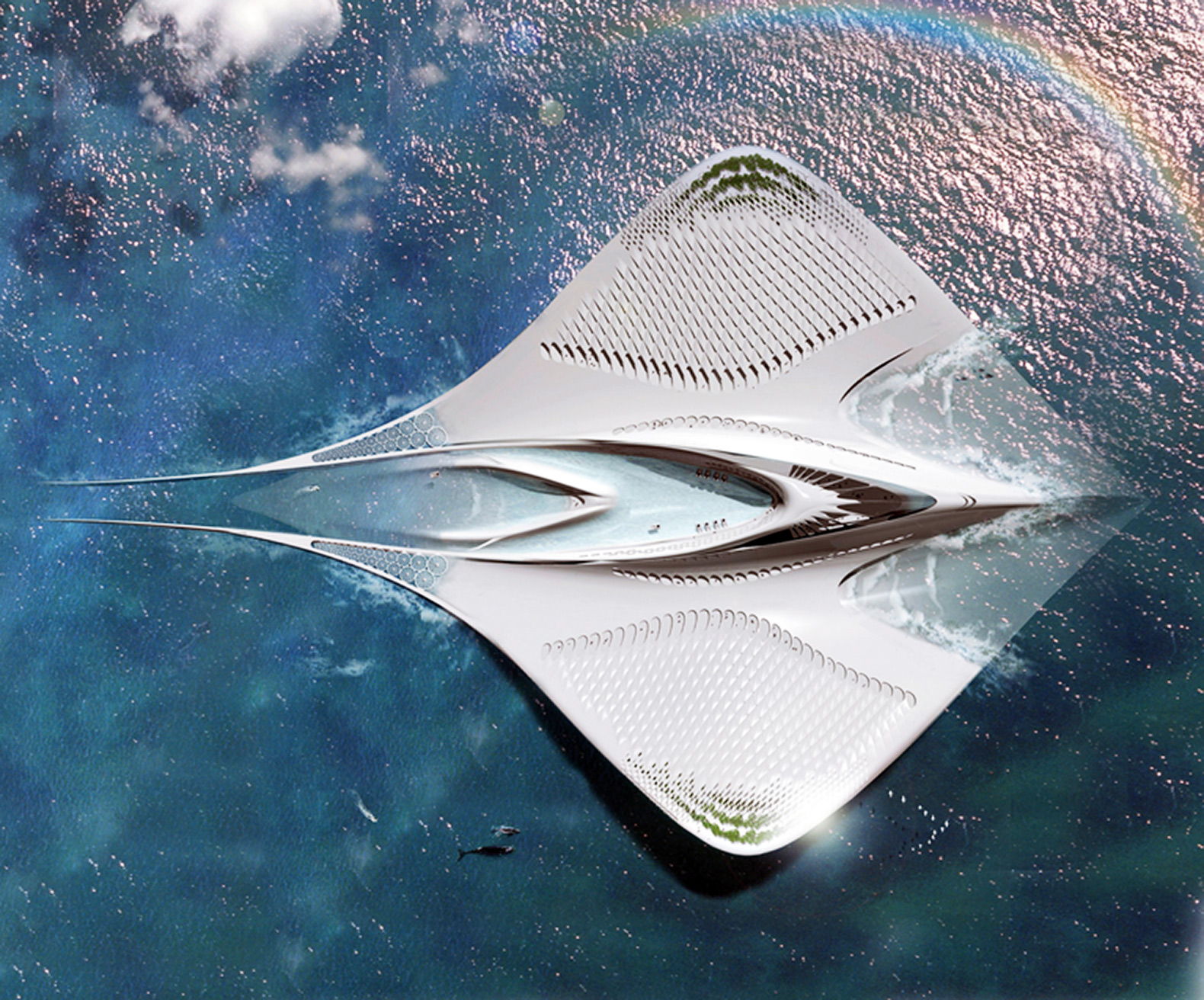 This Sustainable Floating City is Shaped Like a Manta Ray