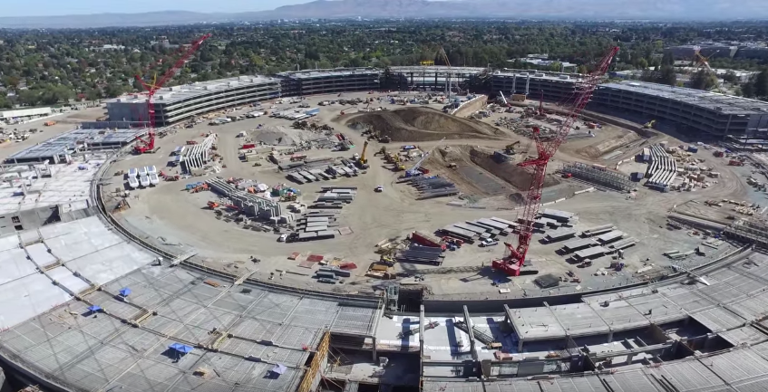 Drone Captures Apple Campus 2 Construction in Fascinating 4K Video