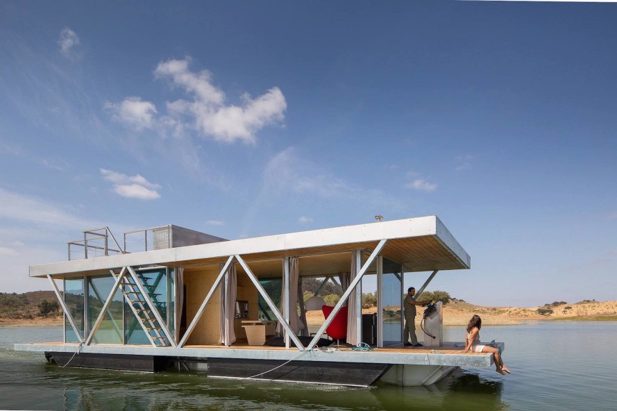 Floatwing an off the grid floating home is a cross for Building a floating home