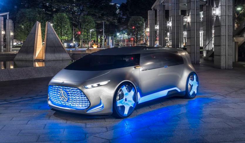 Vision tokyo is a flashy autonomous car concept from for Mercedes benz autonomous driving