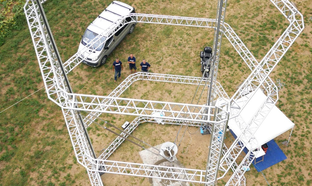 World's Largest Delta 3D Printer Can Print Nearly Zero-Cost Housing Out of Mud