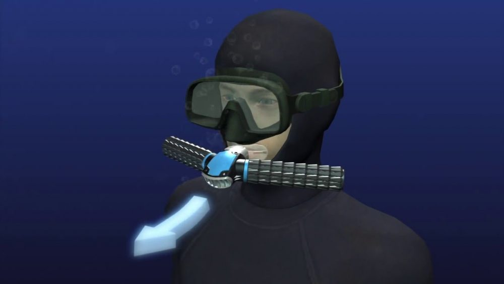 'Triton' Oxygen Mask Lets You Breathe Underwater Without Oxygen Tanks