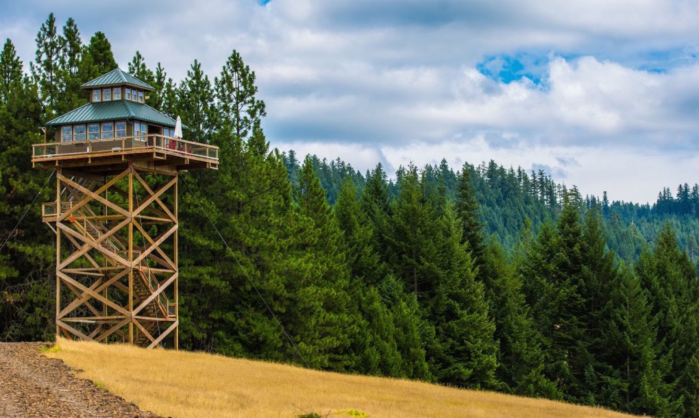 Fire outlook house by 1 industry tap for Fire lookout tower plans