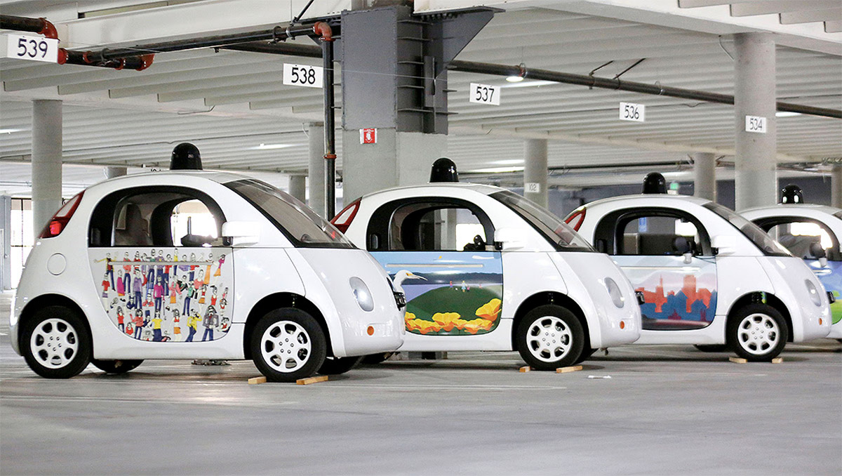 Google S Tiny Autonomous Cars Get New Paint Job Through Design Contest Industry Tap