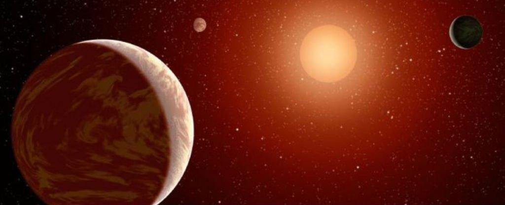Artist's impression of planets orbiting a type M class red dwarf star. Credit: NASA/JPL-Caltech
