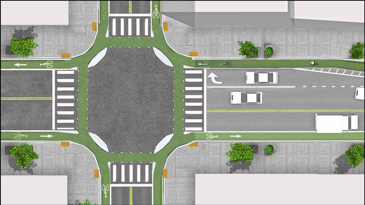 "The ""Dutch Junction"" Intersection Design Can Be a Life Saver For Bicyclists"