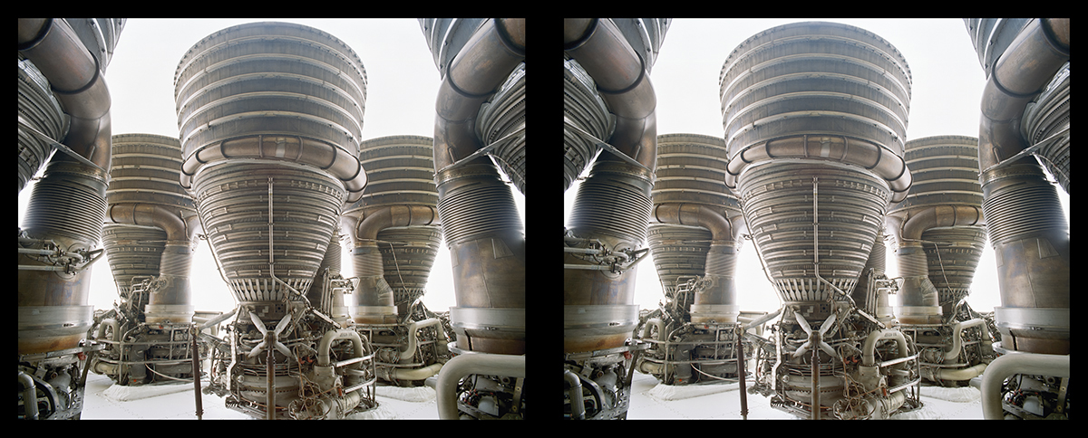 Fig. 7.8Apollo Saturn F1 Engine Cluster Diptych,NASA Johnson S