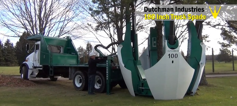 Transplanting a Tree With a Truck-Mounted Super Spade