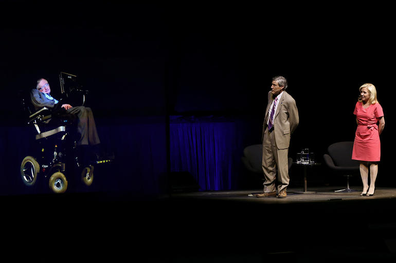 Stephen Hawking Telepresence