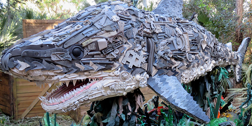 "These Marine Life Sculptures Originally ""Washed Ashore"" As Garbage"