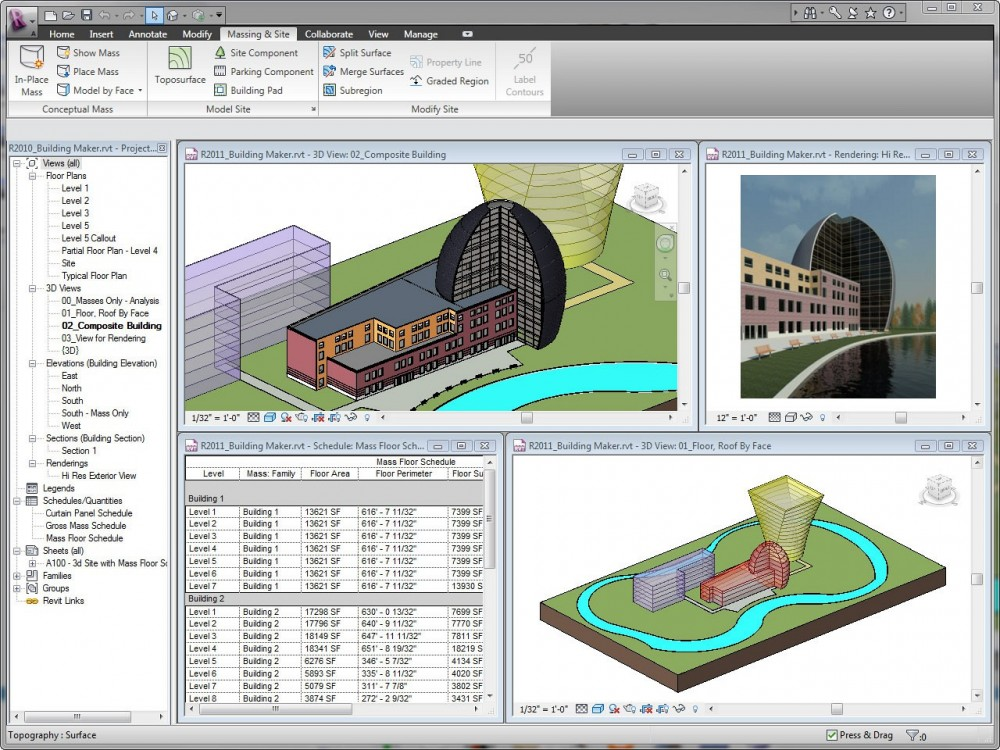 Autodesk Revit user interface