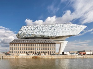 Zaza Hadid's Antwerp Port House is a Unique Structure Right on the Water
