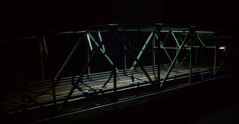 Drone Equipped With 1000W LED Light Bar Can Up Bridges At Night