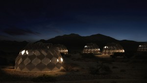 These Transportable Woven Refugee Tents Store Water and Are Powered by the Sun