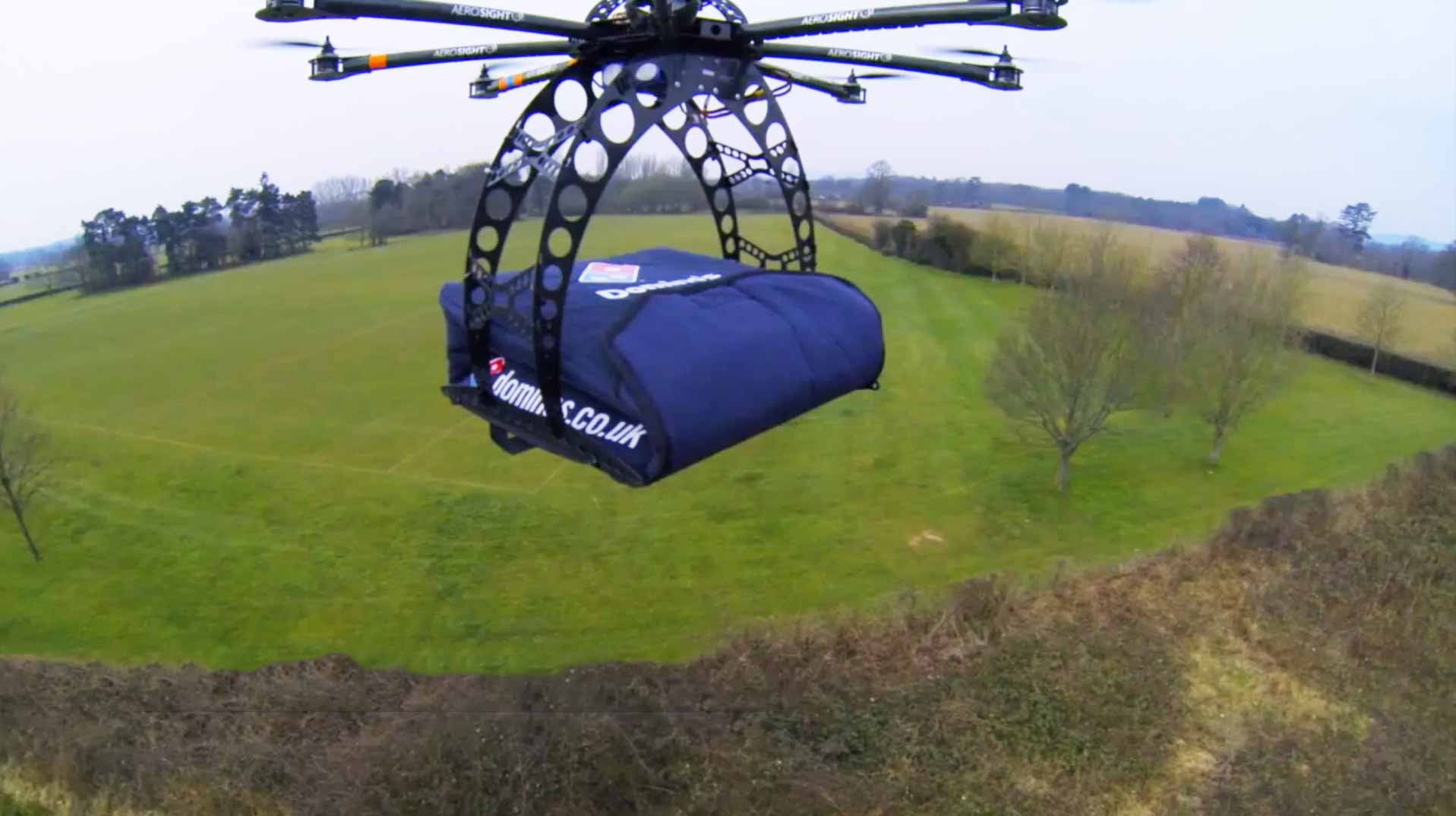 The First Dominos Pizza Drone Delivery Was A Success Marking Unprecedented Laziness