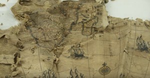 17th Century Map Discovered Stuffed Up a Chimney Gets Painstakingly Reassembled