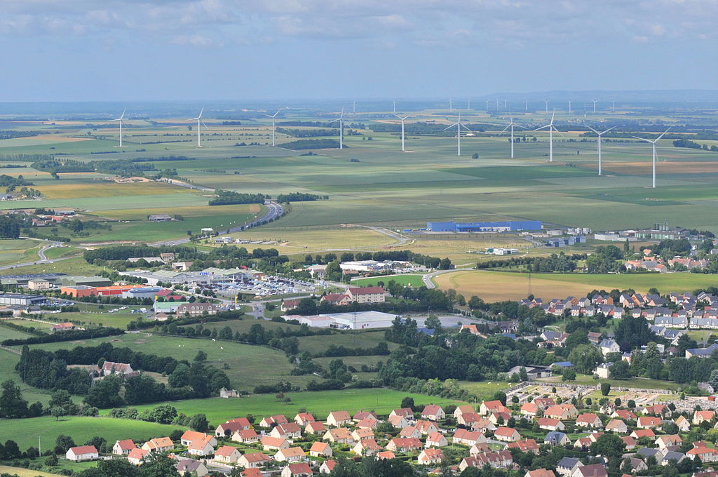 Wind turbines in Lower Normandy Image courtesy wikipedia