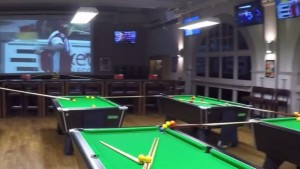World's Greatest Billiards Shot Plays Out Over 2 Minutes Covering 2 Floors
