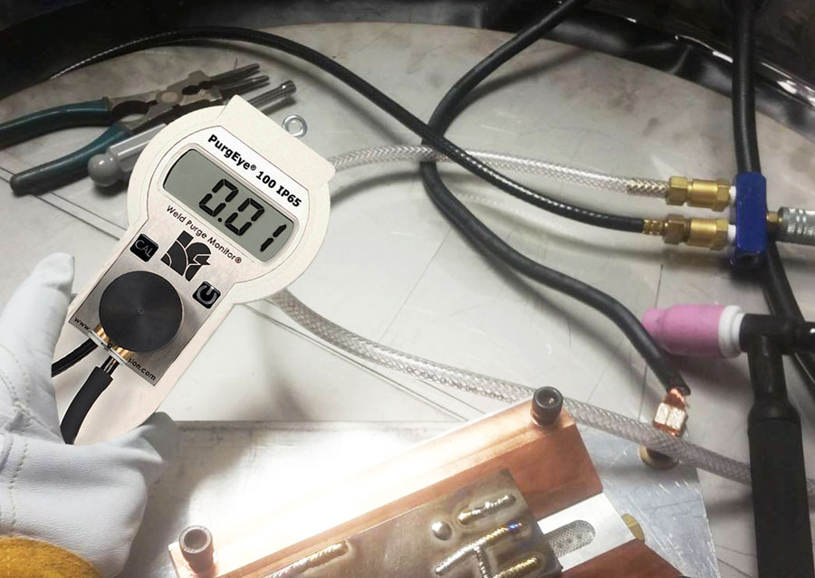 World Standard Weld Purge Monitor® Measures Oxygen Levels Before and During Welding